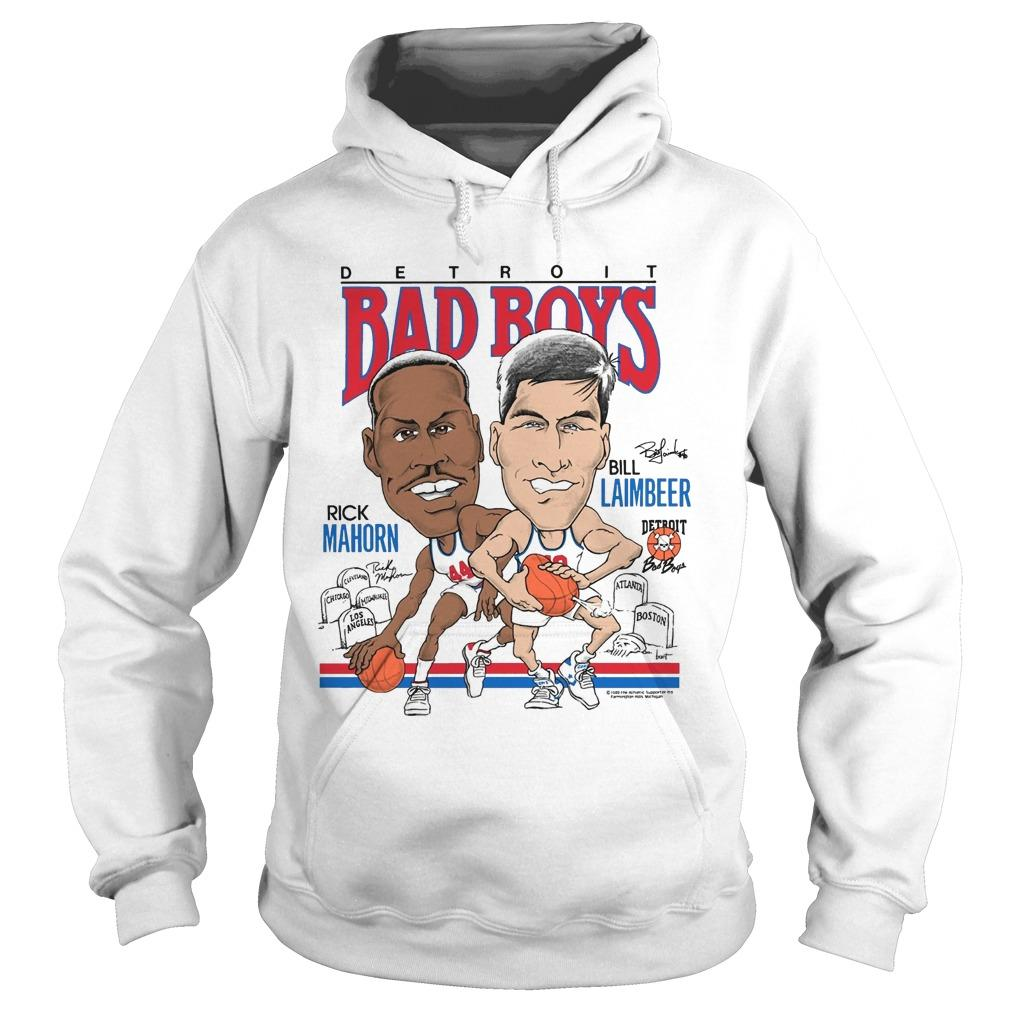 Carron J Phillips Detroit Bad Boys Rick Mahorn Bill Laimbeer Hoodie