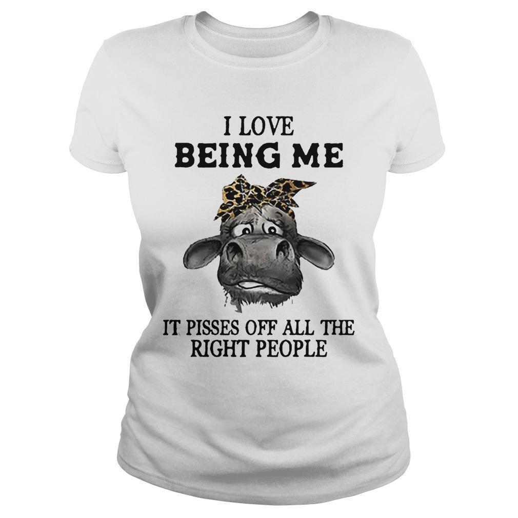Cow I Love Being Me It Pisses Off All The Right People Longsleeve