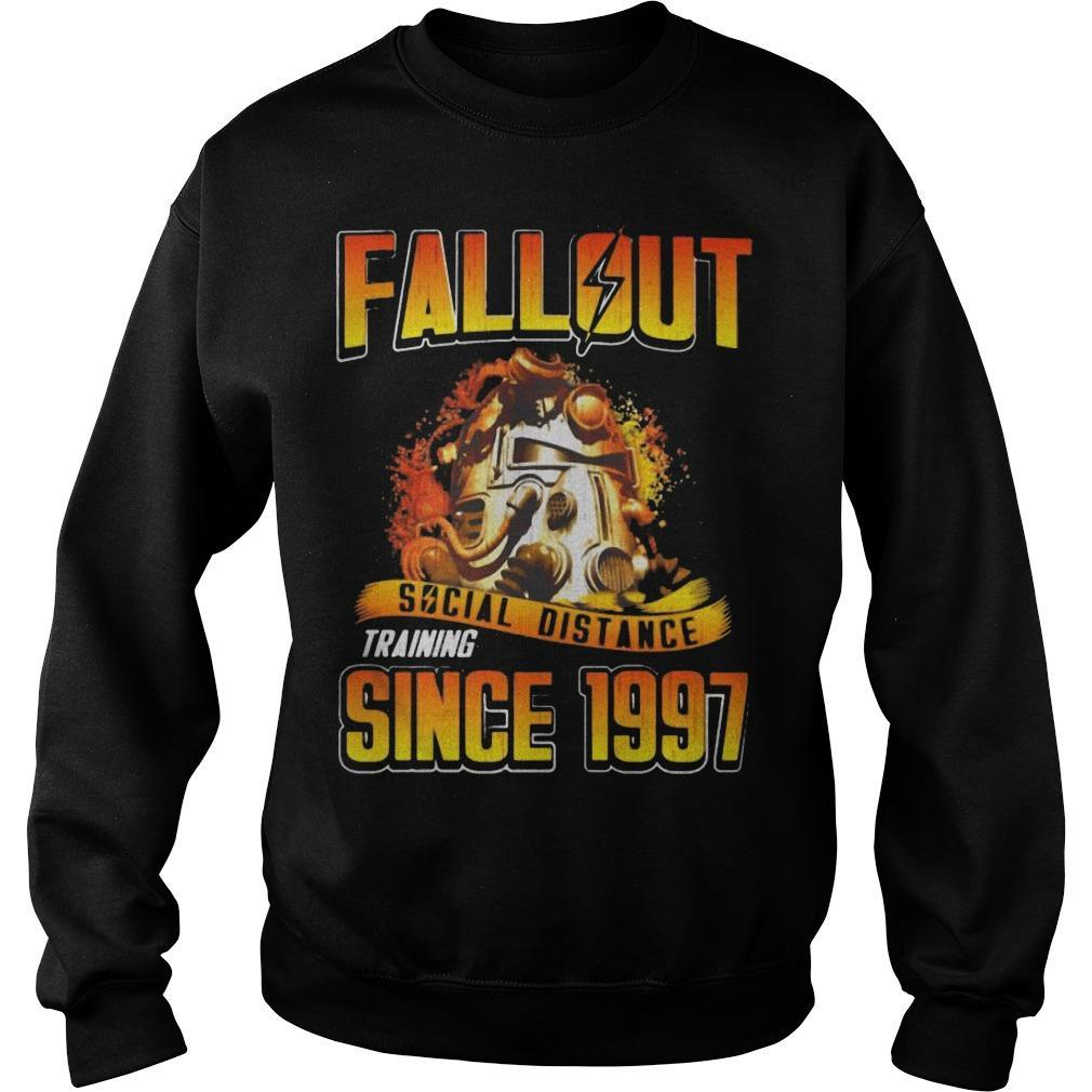 Fallout Social Distance Training Since 1997 Sweater
