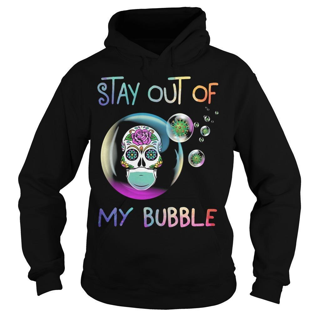 Floral Skull Stay Out Of My Bubble Hoodie
