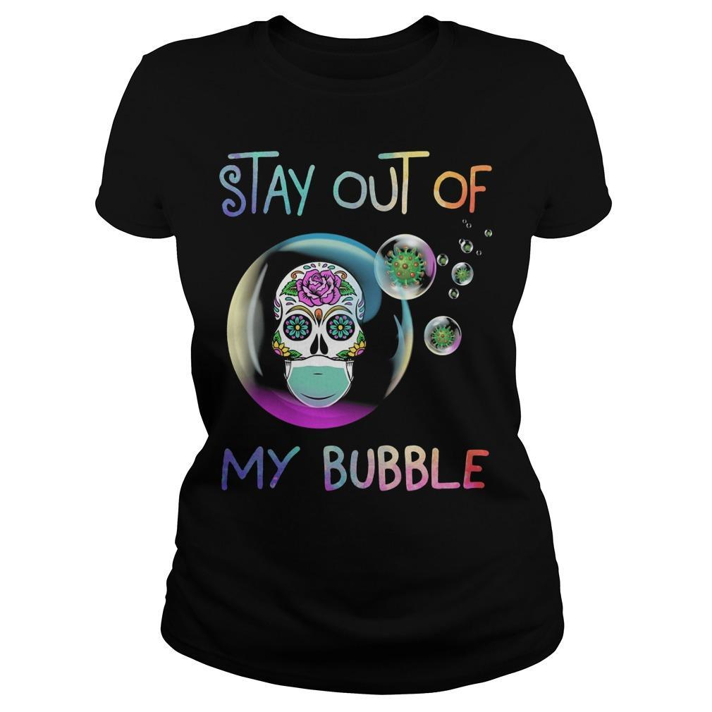 Floral Skull Stay Out Of My Bubble Longsleeve