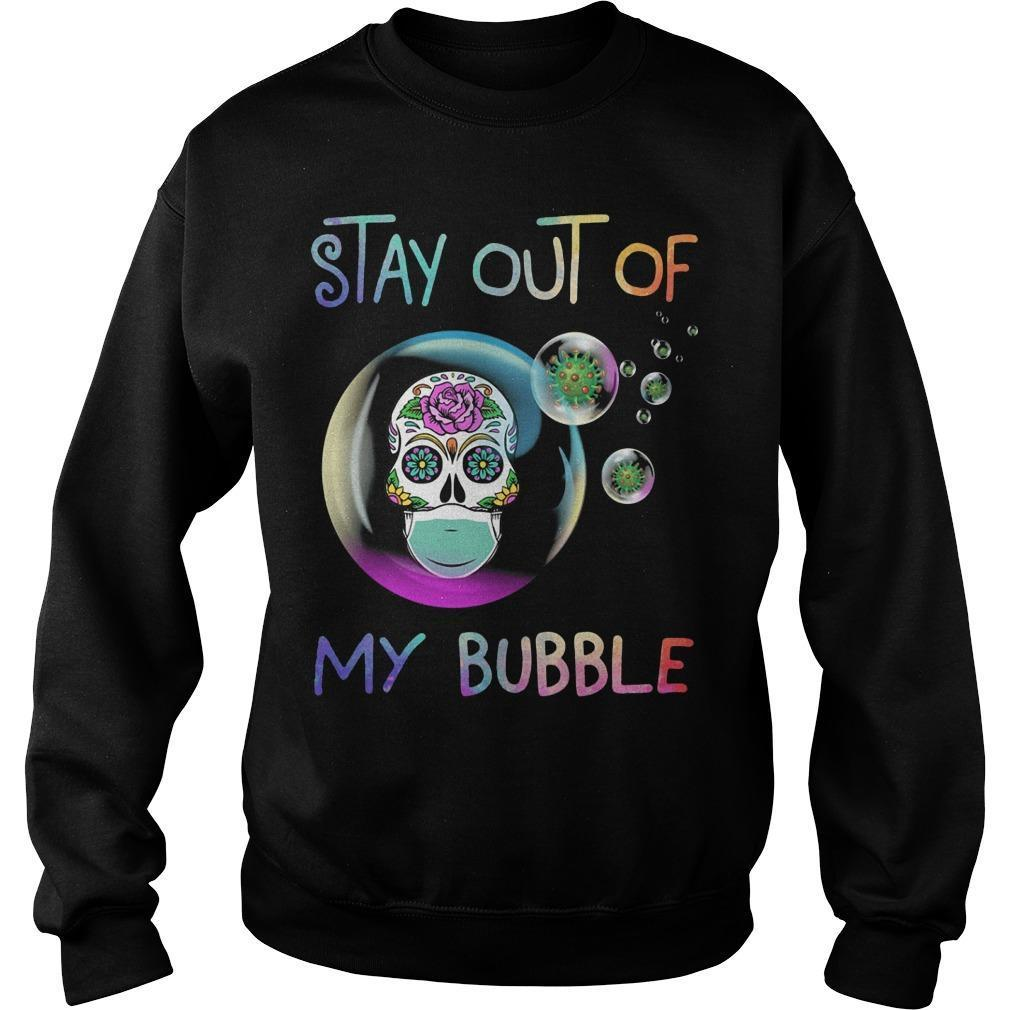Floral Skull Stay Out Of My Bubble Sweater