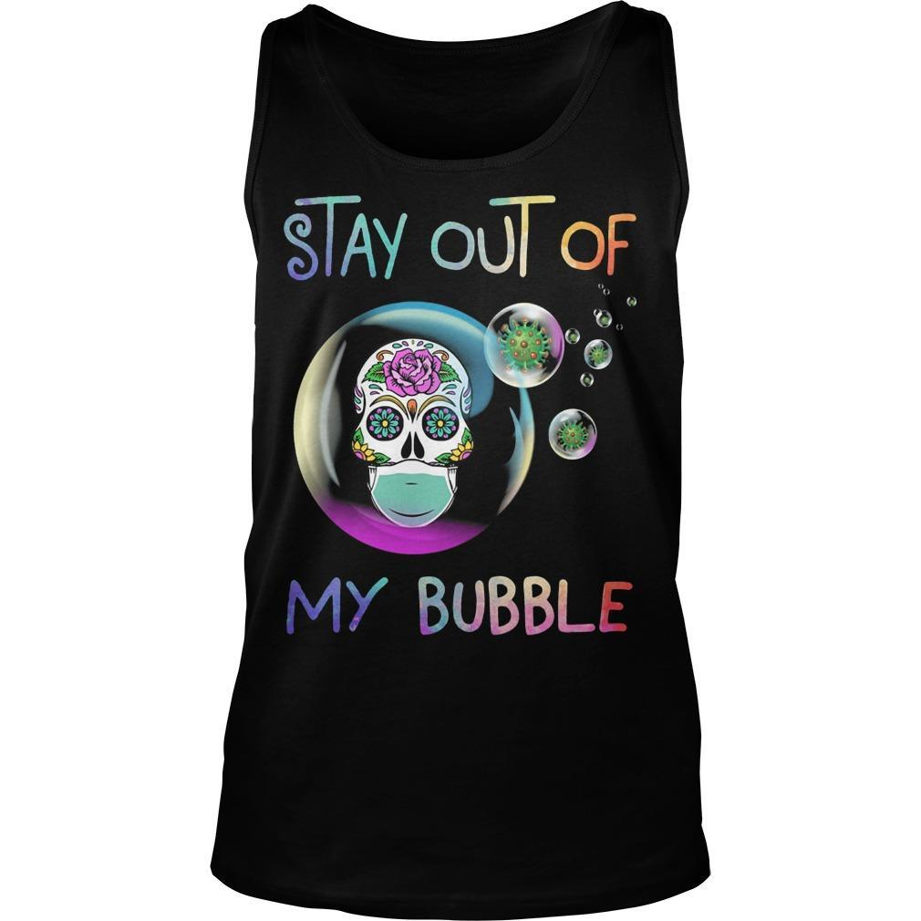 Floral Skull Stay Out Of My Bubble Tank Top