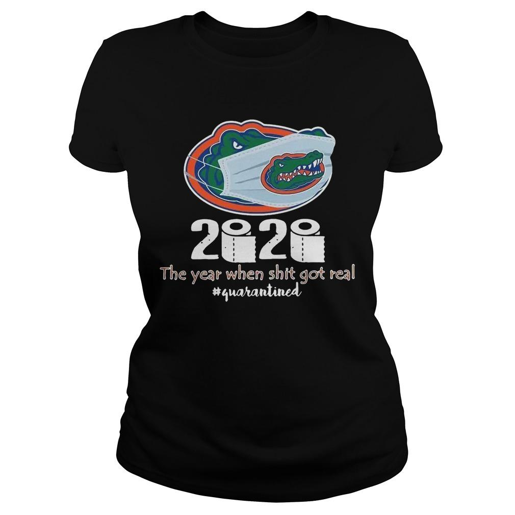 Florida Gators Mask 2020 The Year When Shit Got Real Quarantined Longsleeve