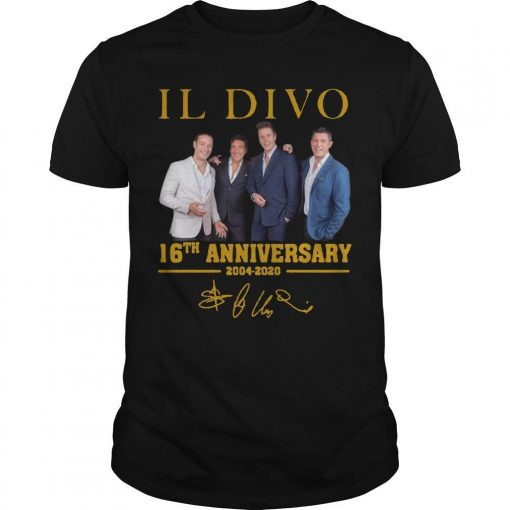 Il Divo 16th Anniversary 2004 2020 Signature Shirt