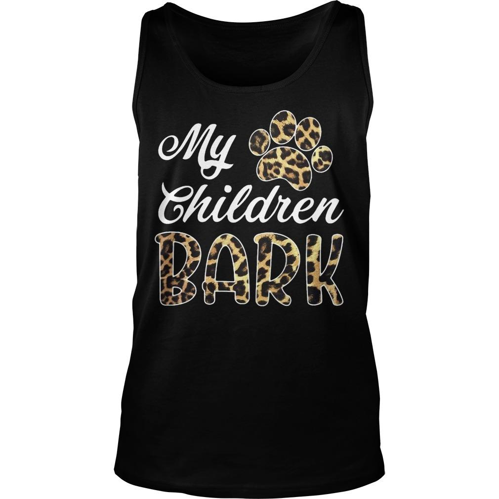Leopard My Children Bark Tank Top