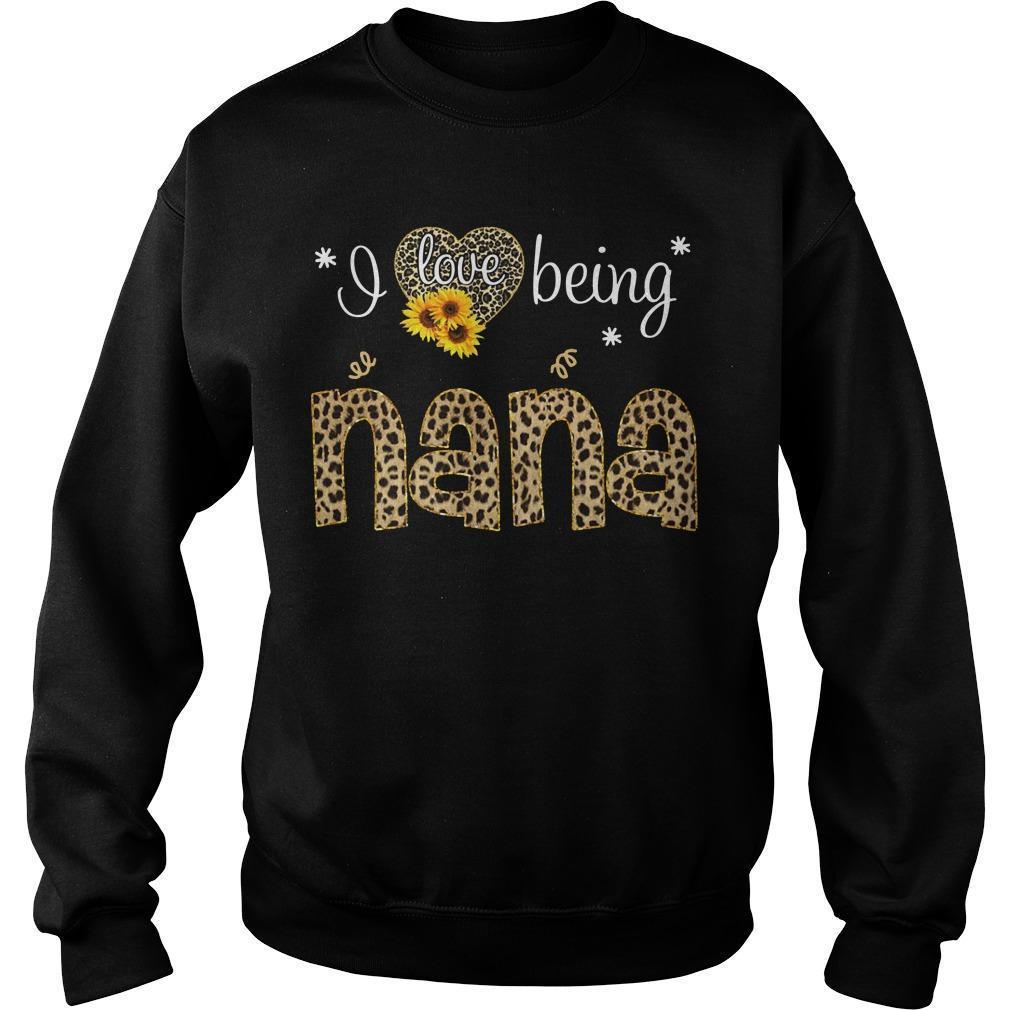Leopard Print Sunflower I Love Being Nana Sweater