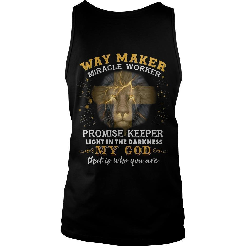 Lion Way Maker Miracle Worker Promise Keeper Tank Top