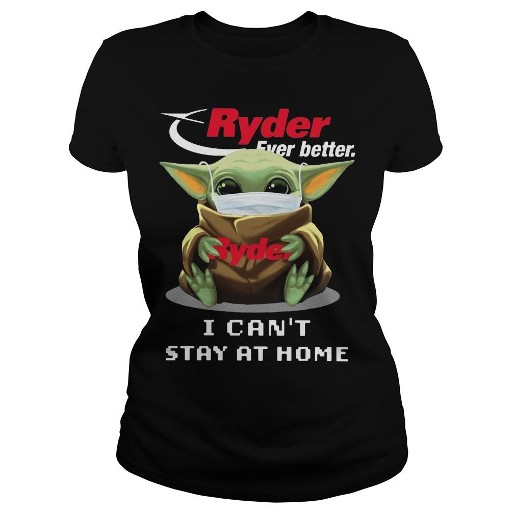 Mask Baby Yoda Hugging Ryder Ever Better I Can't Stay At Home Longsleeve