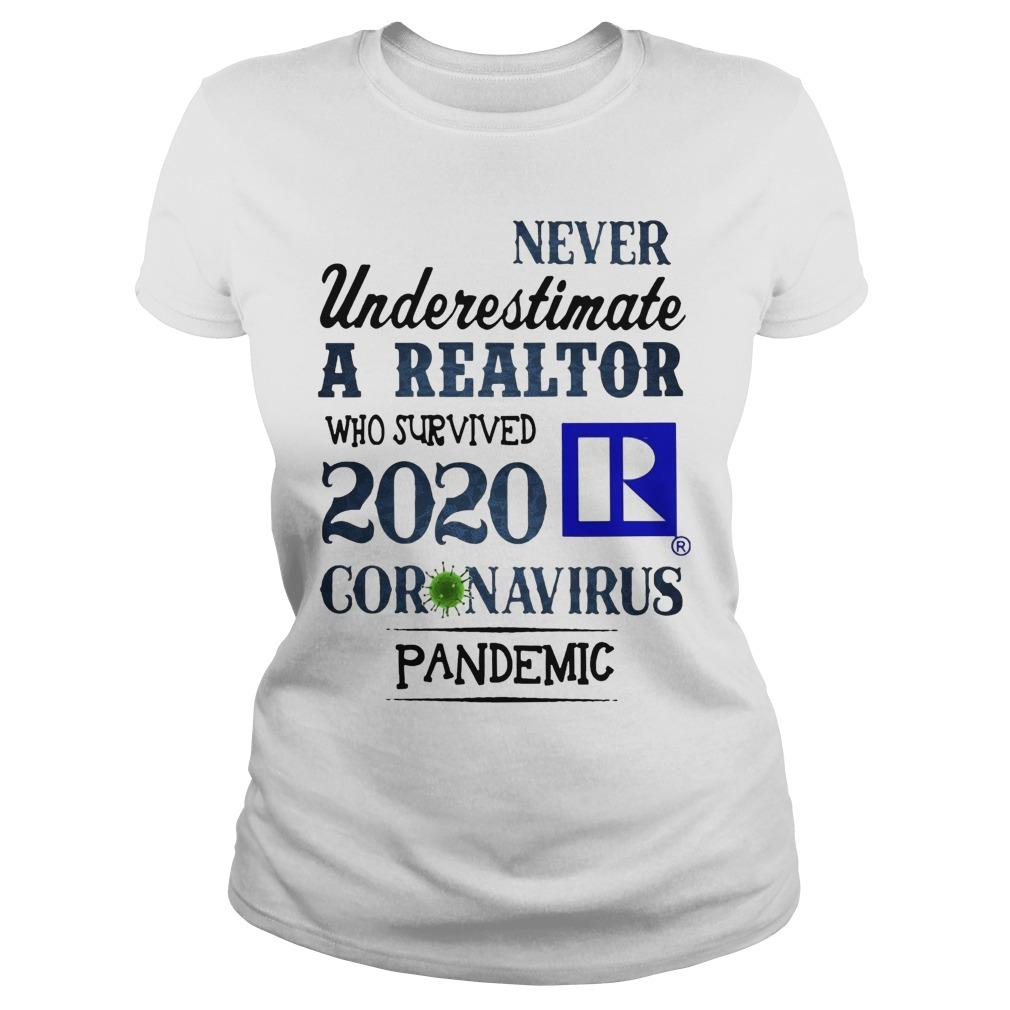 Never Underestimate A Realtor Who Survived 2020 Coronavirus Pandemic Longsleeve