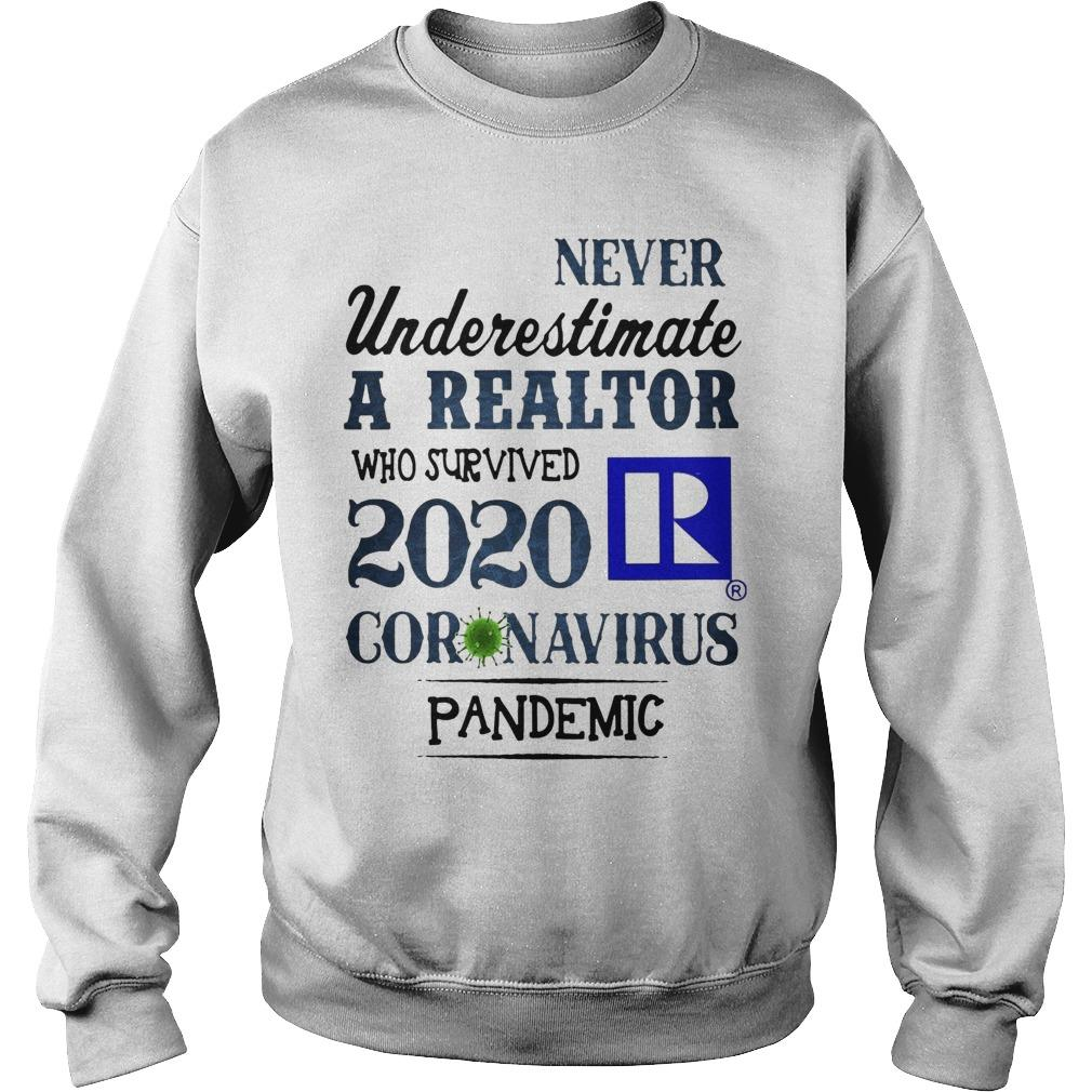 Never Underestimate A Realtor Who Survived 2020 Coronavirus Pandemic Sweater