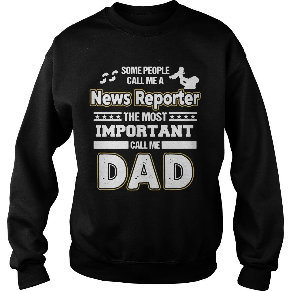 News Reporter Dad No Sweater