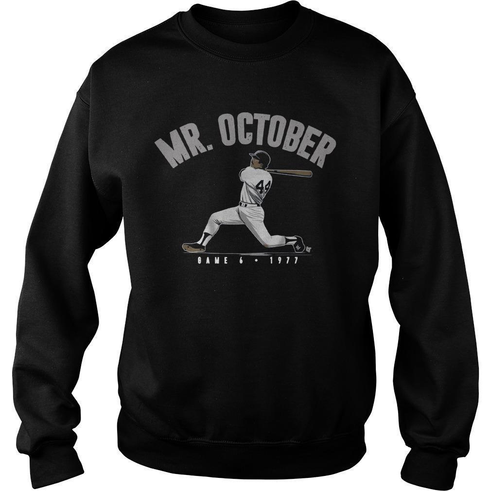 Reggie Jackson Mr October Sweater