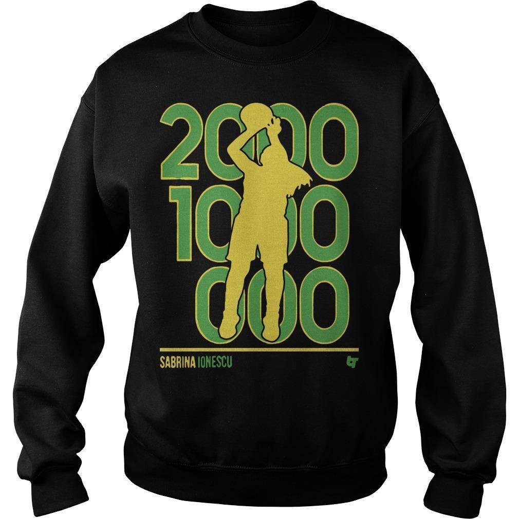 Sabrina Ionescu 2000 1000 1000 Sweater