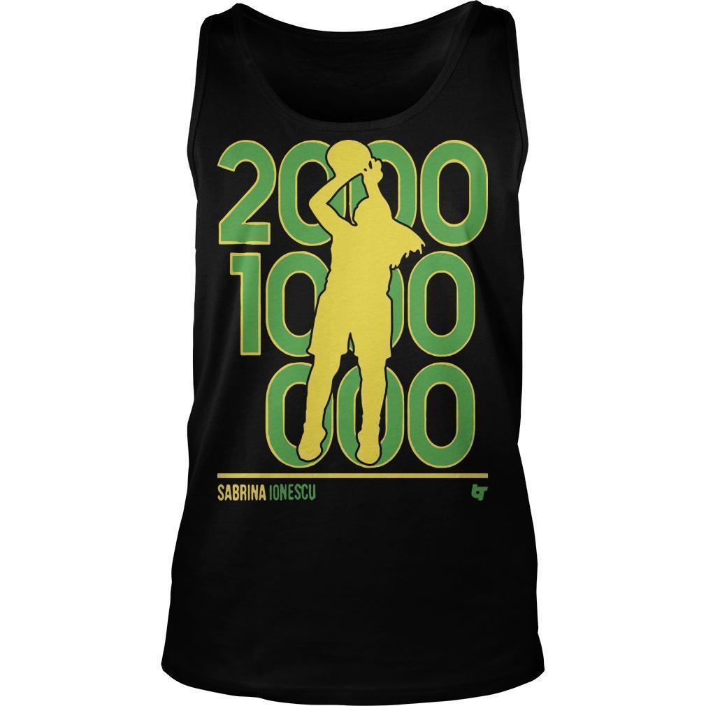 Sabrina Ionescu 2000 1000 1000 Tank Top