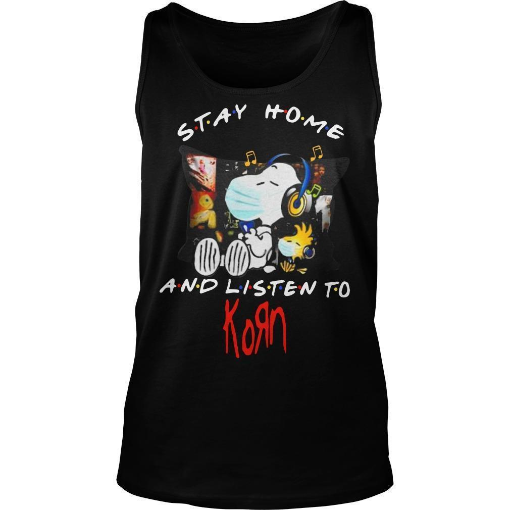 Snoopy And Woodstock Stay Home And Listen To Korn Tank Top