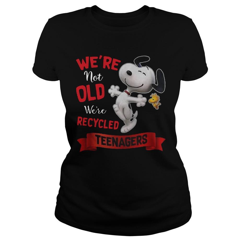Snoopy We're Not Old We're Recycled Teenagers Longsleeve