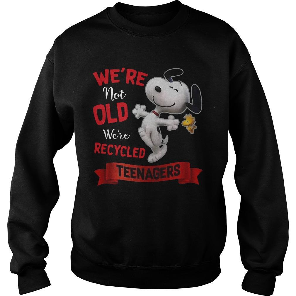 Snoopy We're Not Old We're Recycled Teenagers Sweater