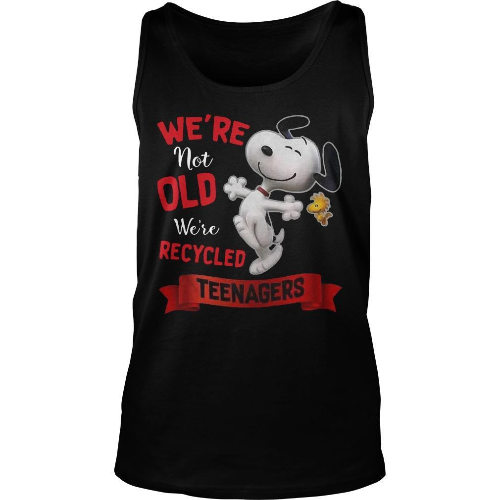 Snoopy We're Not Old We're Recycled Teenagers Tank Top