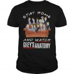Stay Home And Watch Grey's Anatomy Shirt