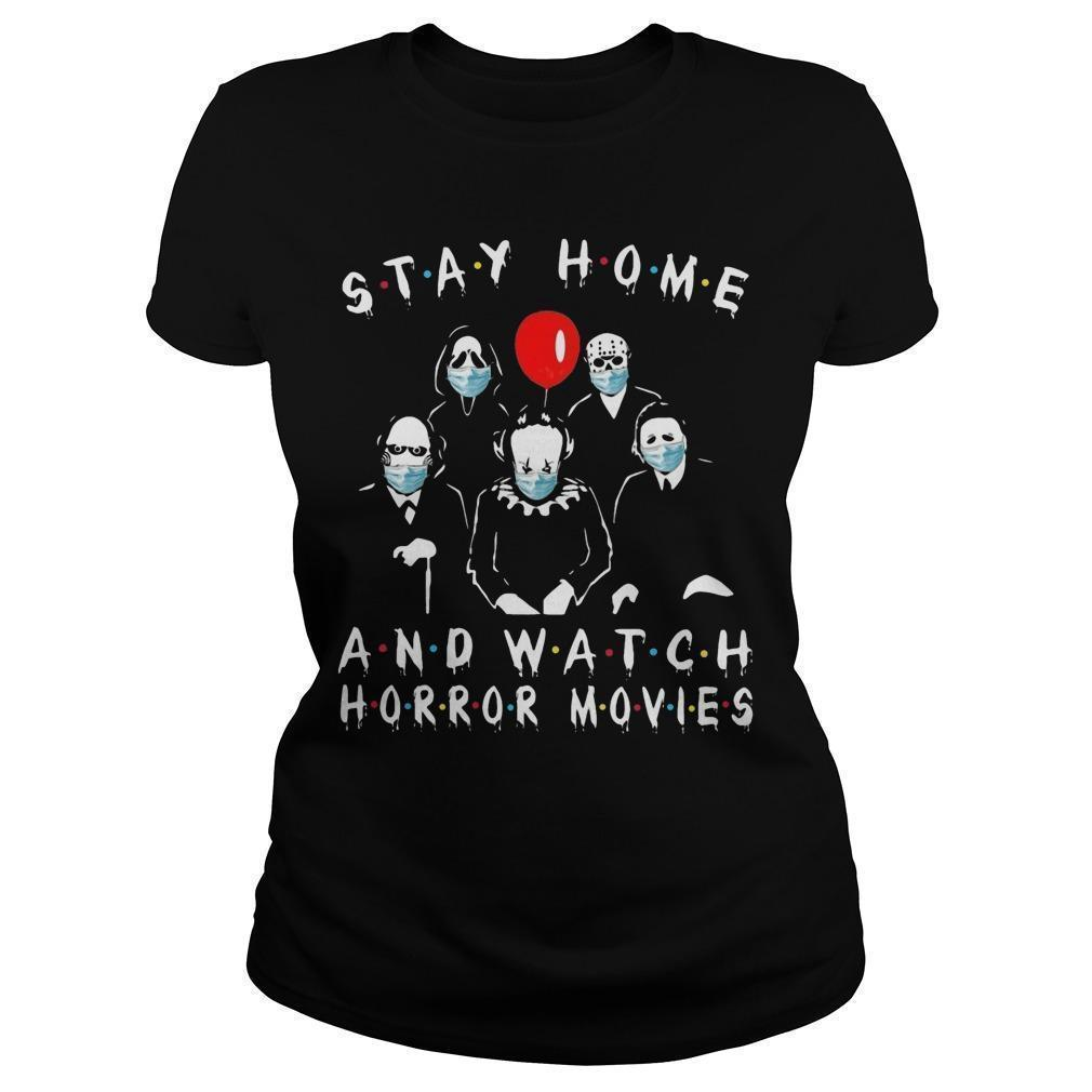 Stay Home And Watch Horror Movies Longsleeve