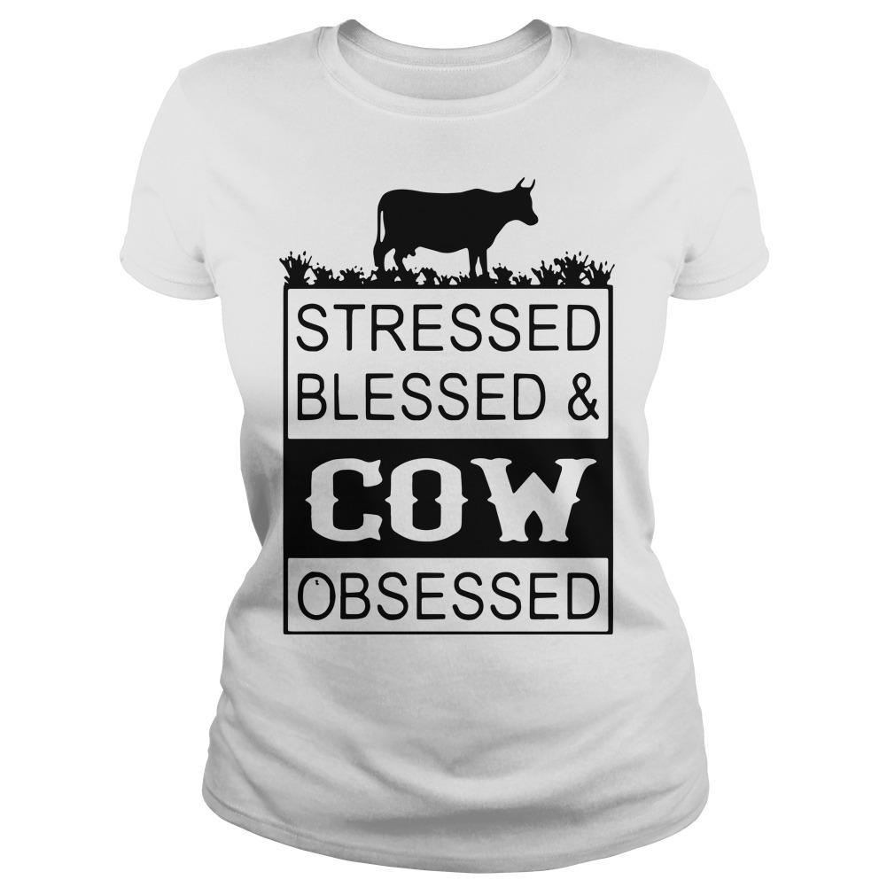 Stressed Blessed & Cow Obsessed Longsleeve