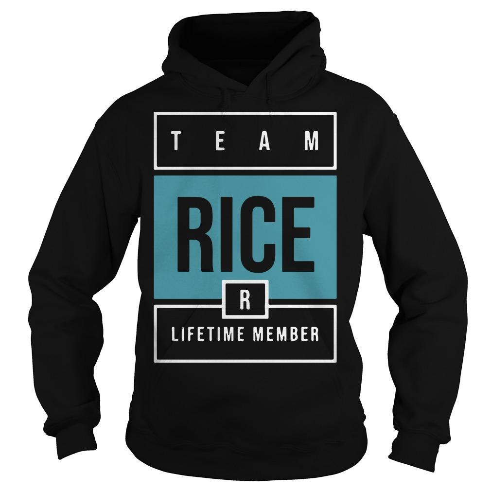 Team Rice Lifetime Member Hoodie