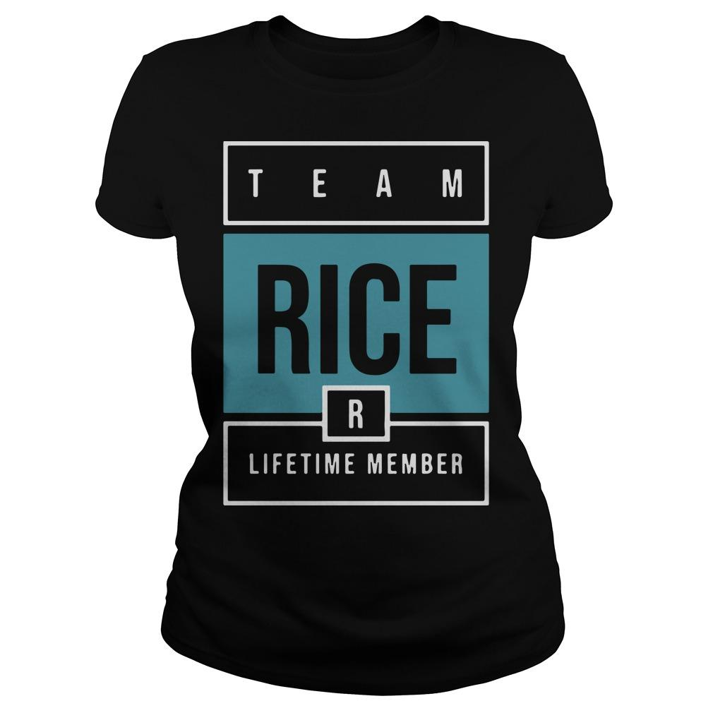 Team Rice Lifetime Member Longsleeve