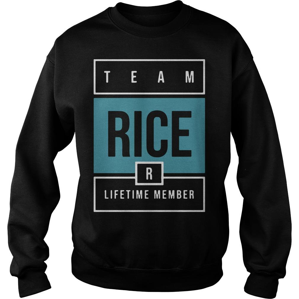 Team Rice Lifetime Member Sweater