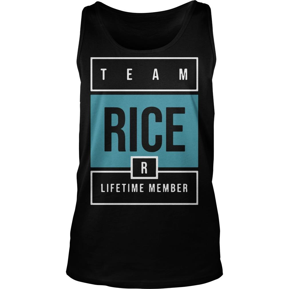 Team Rice Lifetime Member Tank Top