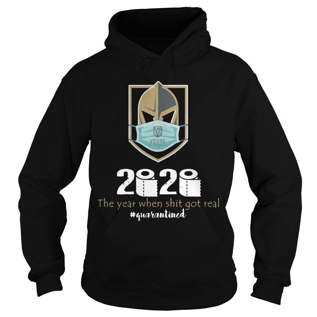 Vegas Golden Knight Mask 2020 The Year When Shit Got Real Hoodie