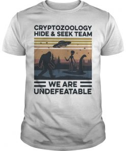 Vintage Cryptozoology Hide And Seek Team We Are Undefeatable Shirt