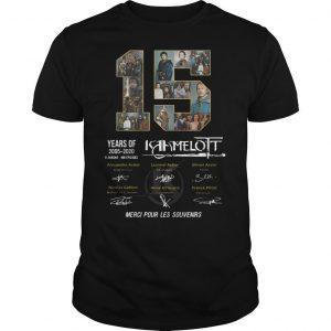 15 Years Of Kaamelott 2005 2020 Merci Pour Les Souvenirs Shirt