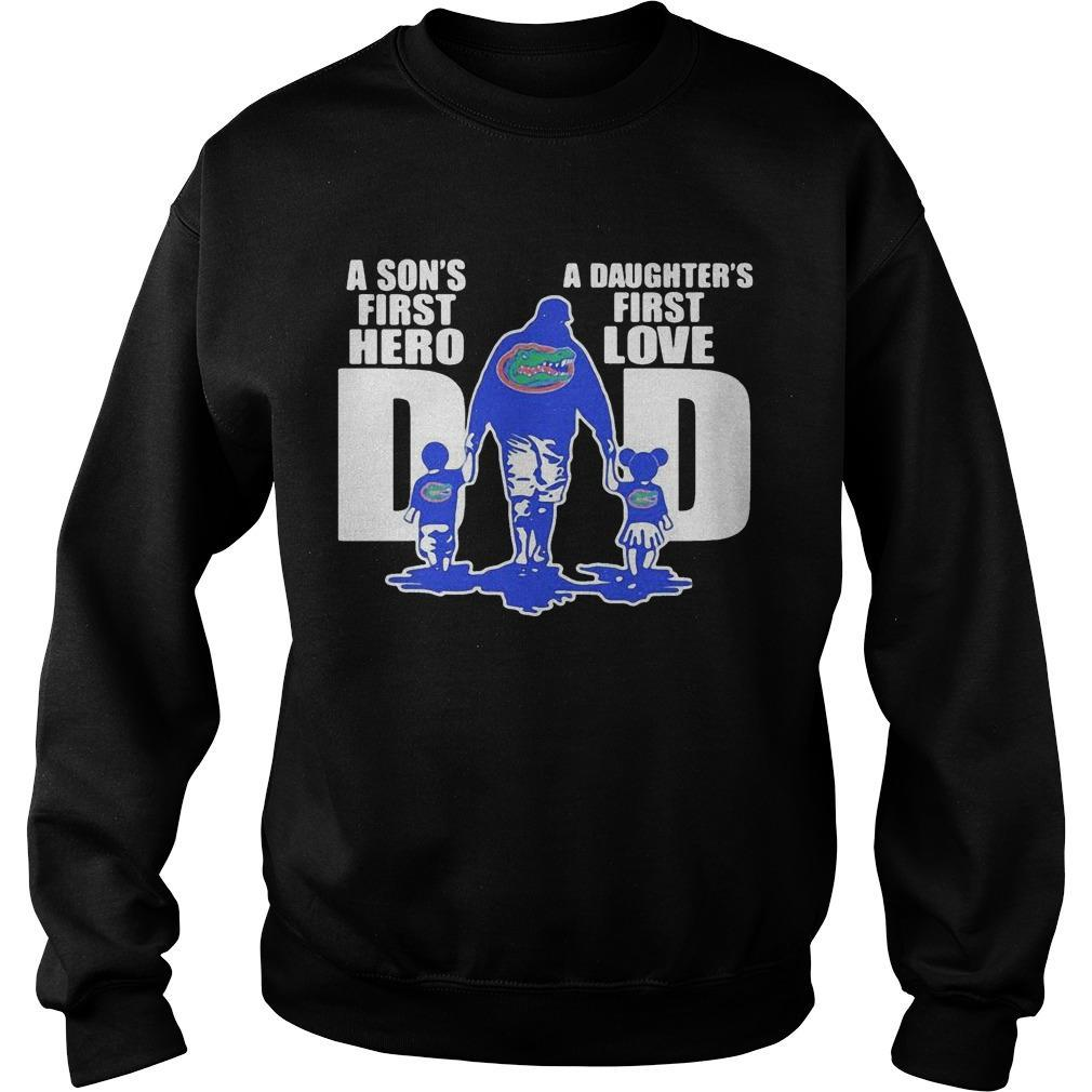 A Son's First Hero A Daughter's First Love Dad Florida Gators Sweater