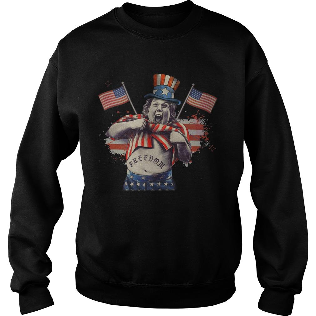 America Independence Day Fat Boy Freedom Sweater