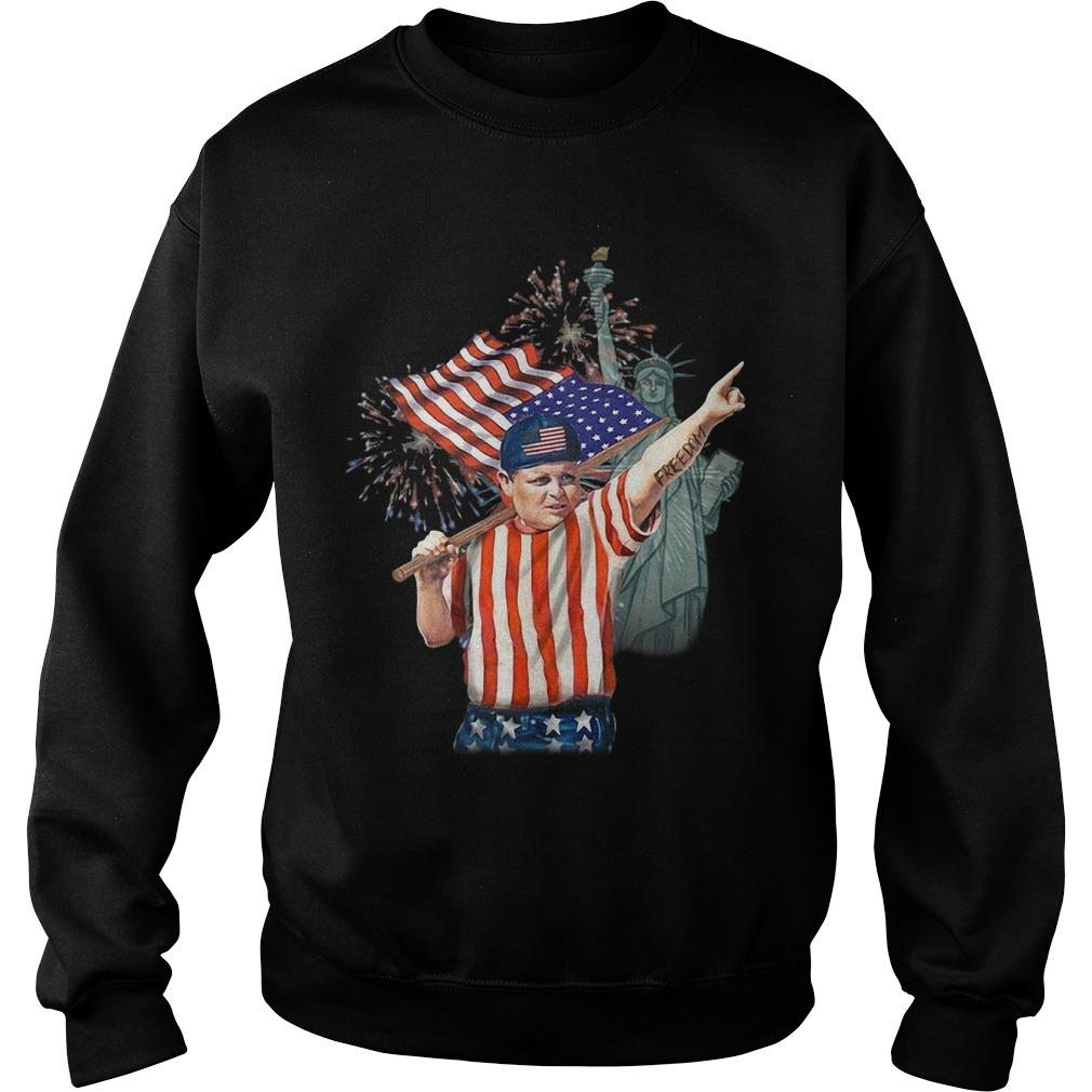 America Independence Day Liberty Statue Fat Boy Sweater