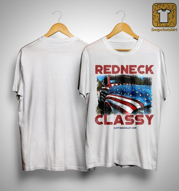 American Flag Truck Veteran Independence Day Redneck Classy Shirt
