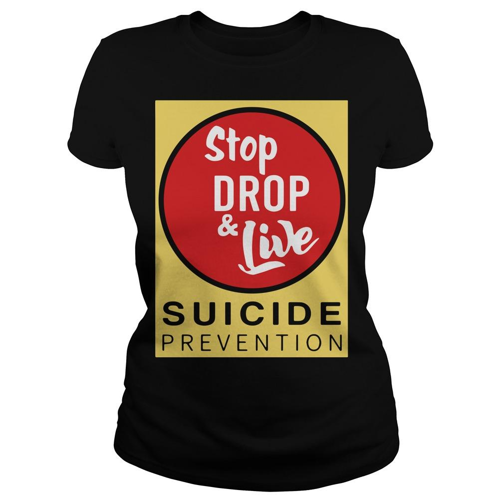 Angela Jones Stop Drop And Live Suicide Prevention Longsleeve