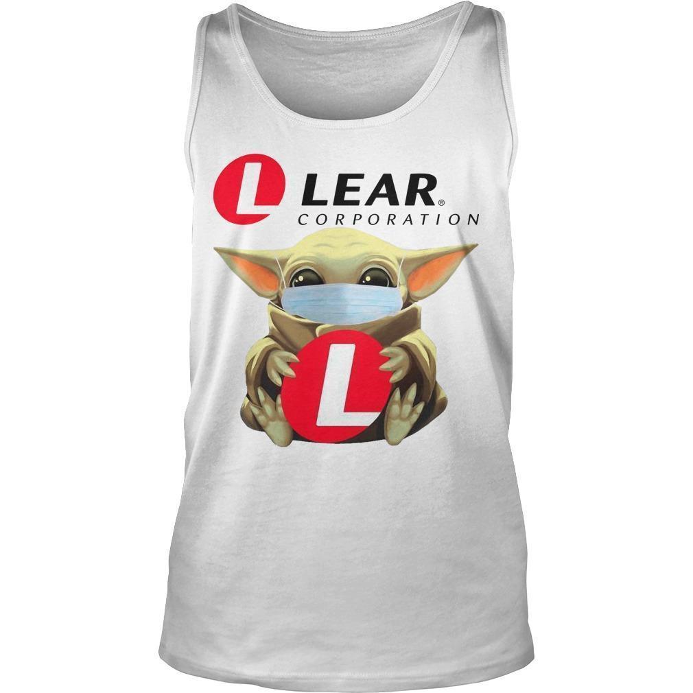 Baby Yoda Mask Hugging Lear Corporation Tank Top