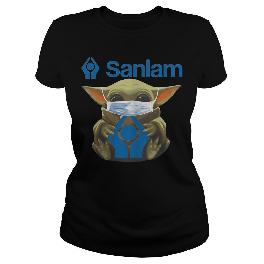 Baby Yoda Mask Hugging Sanlam Longsleeve