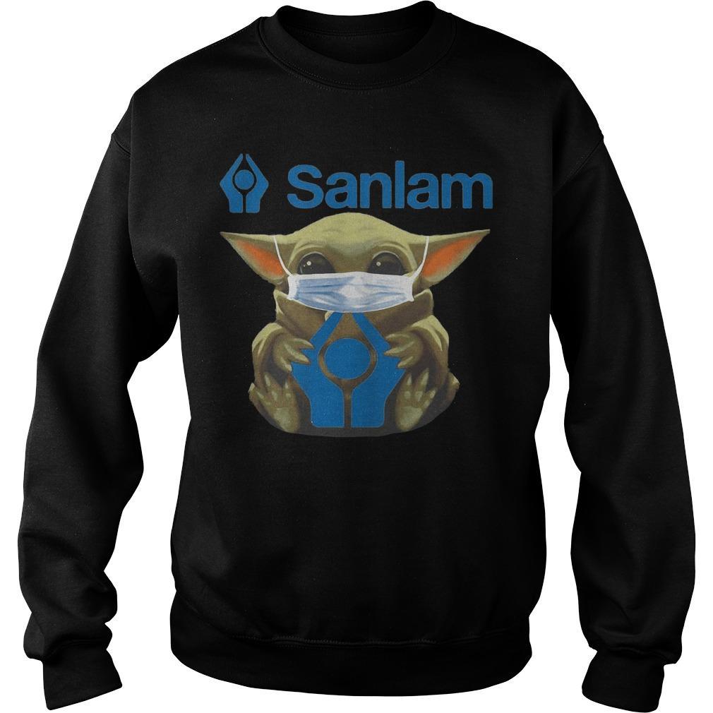 Baby Yoda Mask Hugging Sanlam Sweater