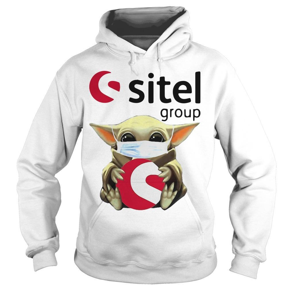 Baby Yoda Mask Hugging Sitel Group Hoodie