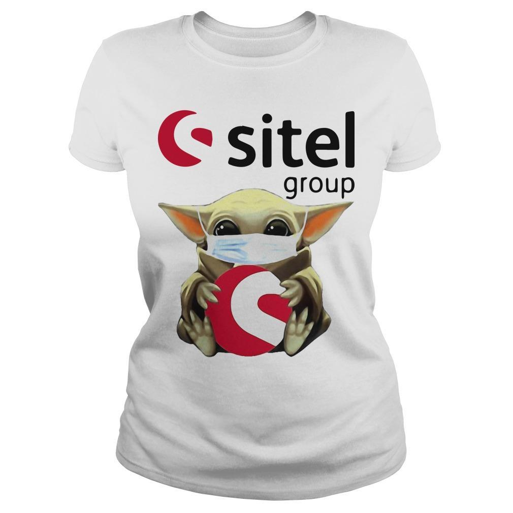 Baby Yoda Mask Hugging Sitel Group Longsleeve
