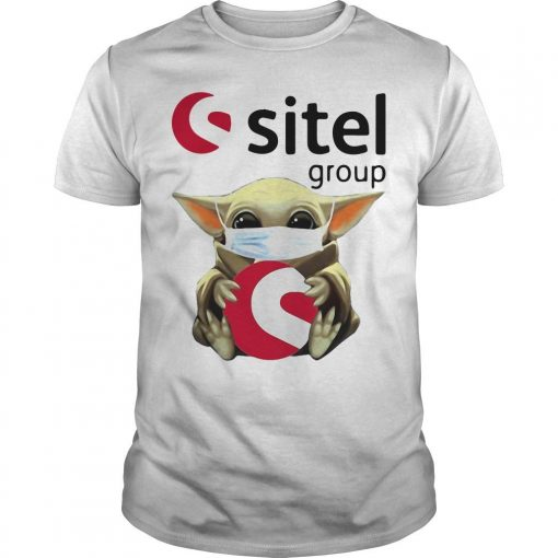 Baby Yoda Mask Hugging Sitel Group Shirt