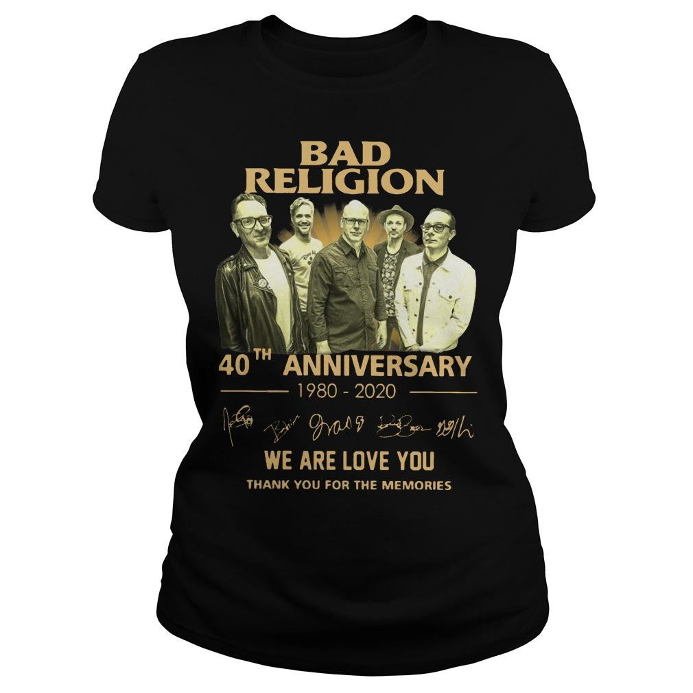 Bad Religion 40th Anniversary We Are Love You Thank You For The Memories Longsleeve