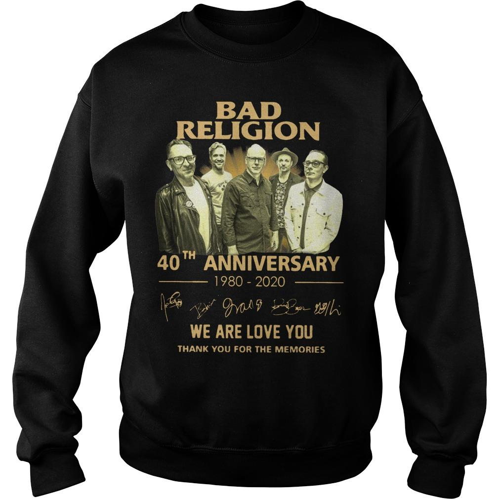 Bad Religion 40th Anniversary We Are Love You Thank You For The Memories Sweater
