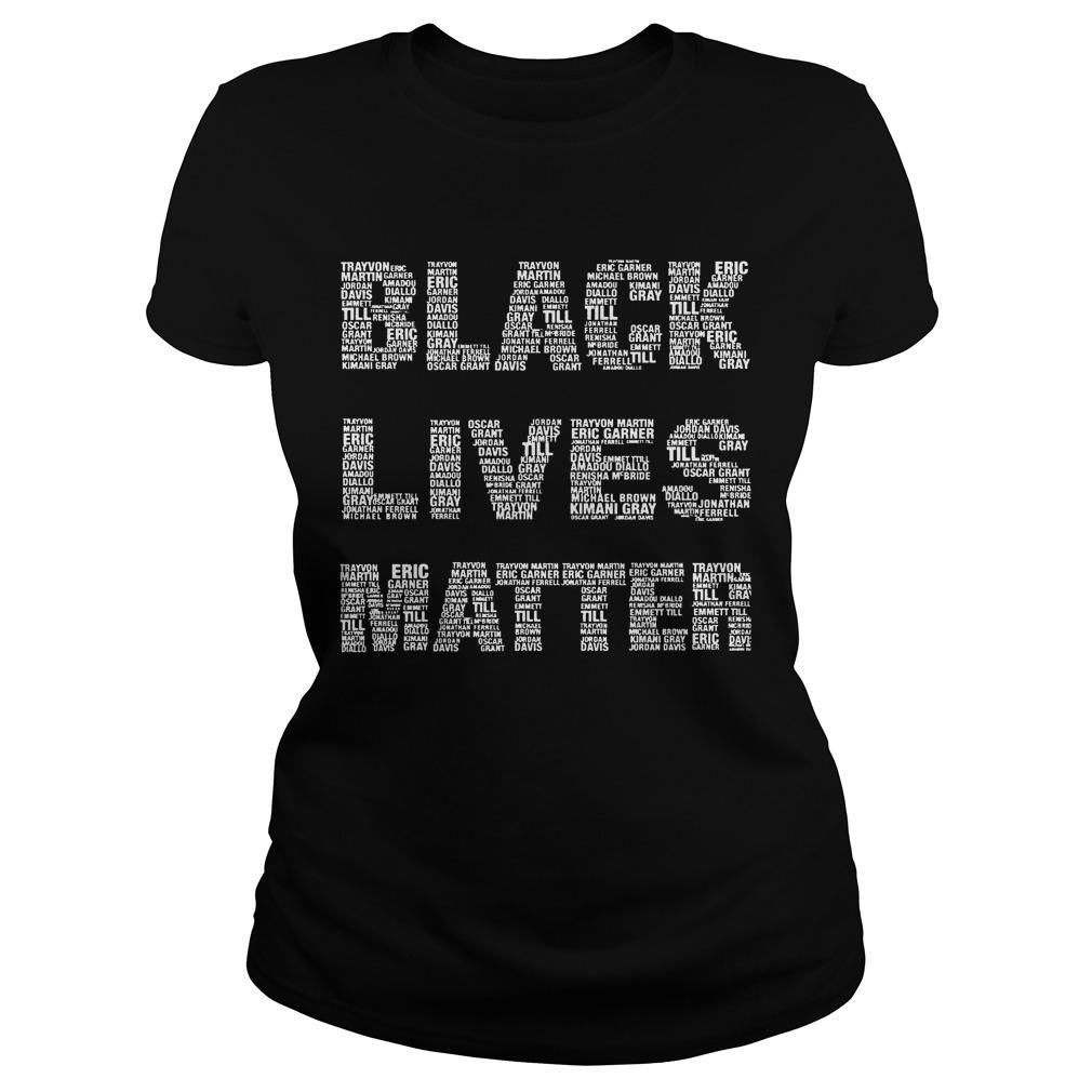 Black Lives Matter With Names Longsleeve