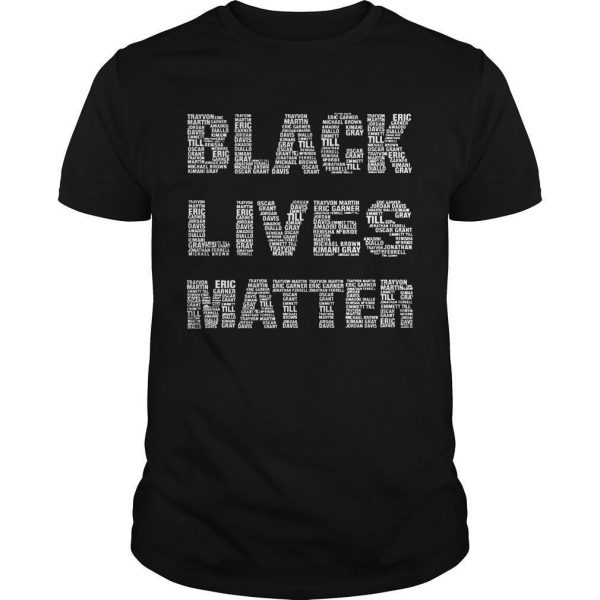 Black Lives Matter Shirt With Names