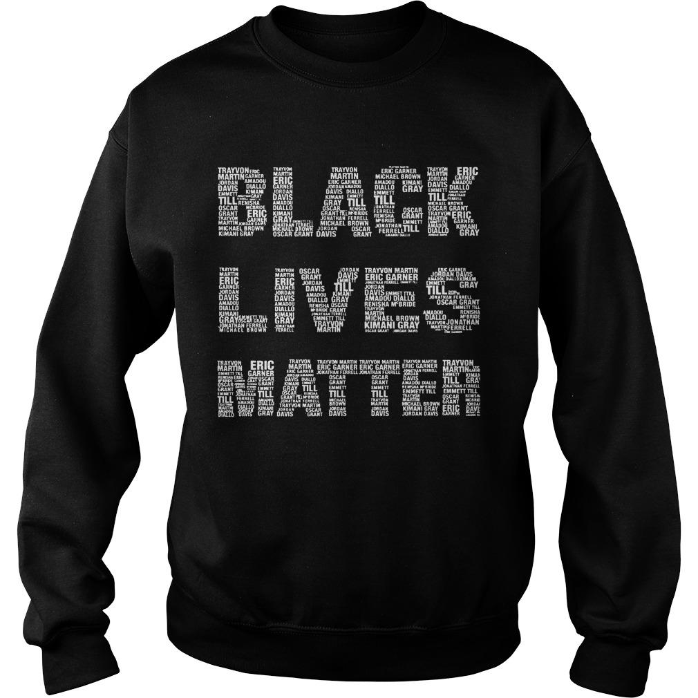 Black Lives Matter With Names Sweater