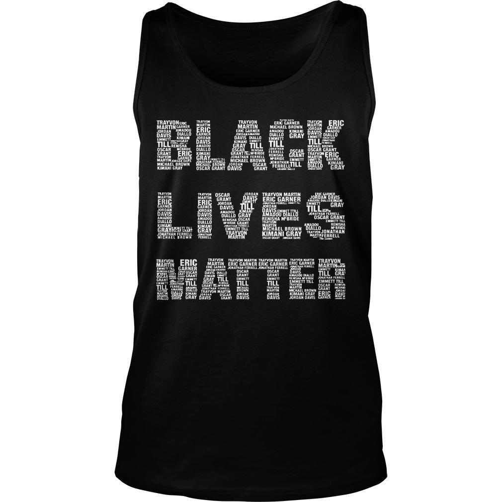 Black Lives Matter With Names Tank Top